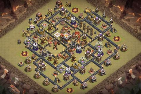 layout coc war 100 coc maps clash of clans town hall 7 defense