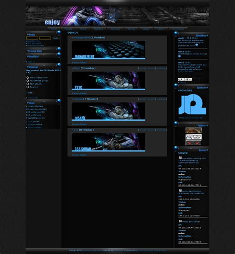 website templates for gaming clans enjoy gaming clan template by drugi on deviantart