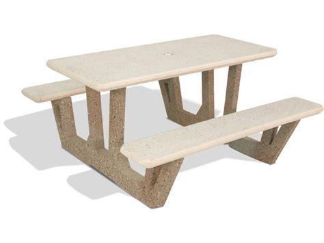 58 quot rectangular concrete picnic table