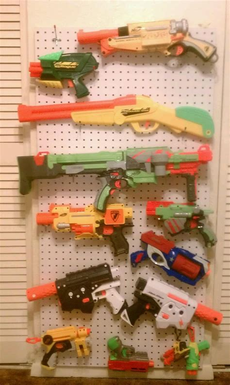 nerf gun rack i it gun rack plans for wall woodworking projects plans