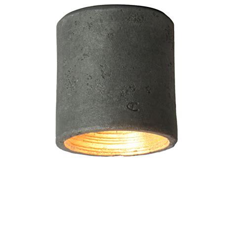 moderner zylinderf 246 rmiger aufputz deckenspot aus keramik - Aufputz Deckenspots