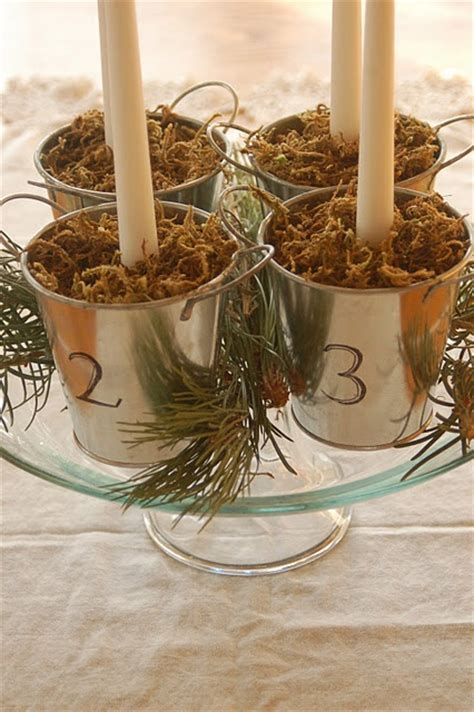Handmade Advent Wreath - creative advent wreath craft ideas