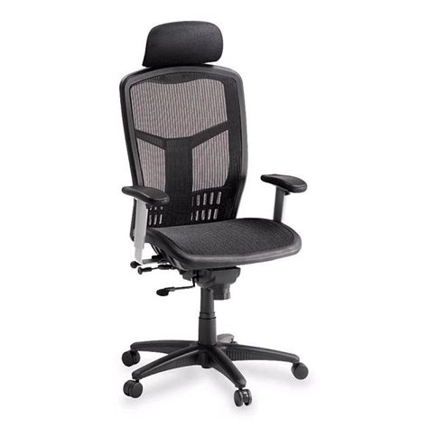 high back mesh chair lorell high back mesh chair w headrest llr60324 mesh