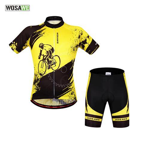 cool cycling jackets wosawe brand new cool cycling jersey set short sleeve