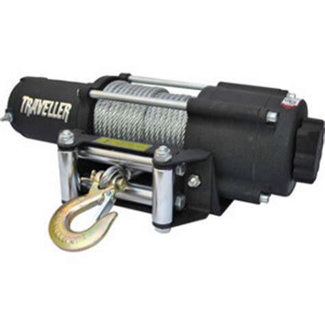 traveller 12v utv electric winch 4 500 lb capacity at