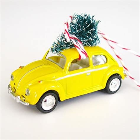 vw bug ornament vw bug beetle ornament with tree on top the co