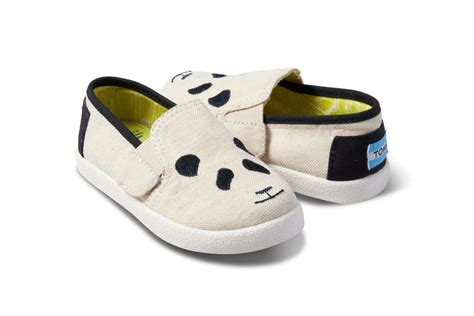 panda shoes new toms collection is inspired by pandas footwear