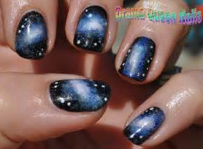 drama queen nails galaxy nails tutorial
