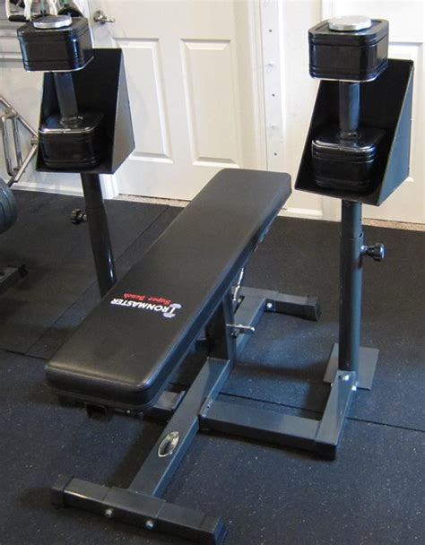 spotting dumbbell bench press ironmaster spotting stand photos and review bodybuilding