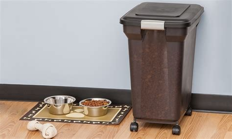 airtight pet food storage container with wheels airtight pet food storage container with wheels groupon