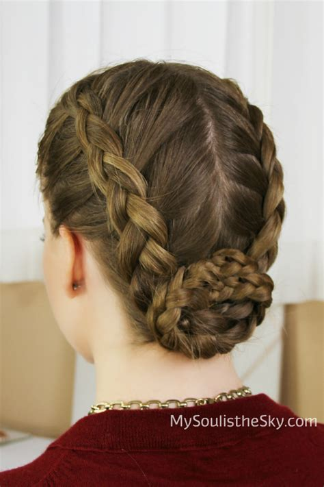 braided hairstyles into a bun two dutch braids into a bun best for dance and gymnastics