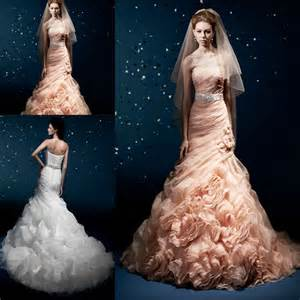 popular peach colored wedding dresses buy cheap peach