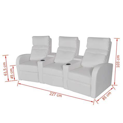 sillon reclinable blanco sill 243 n blanco reclinable de cuero artificial con 3 plazas