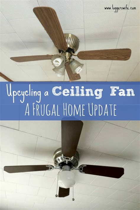 how to paint a ceiling fan upcycling a ceiling fan with spray paint logger s wife