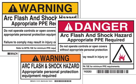 Arc Flash Report Template Amazing Nfpa Label Template Contemporary Professional