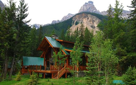 Cabin Mountains by Mountain Cabin Wallpaper 1349986