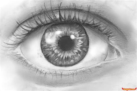 A Drawing Of An Eye by How To Draw An Eye In Pencil