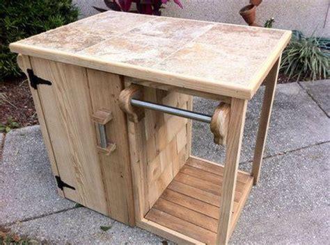 outdoor grill storage cabinet bbq cart patio pinterest