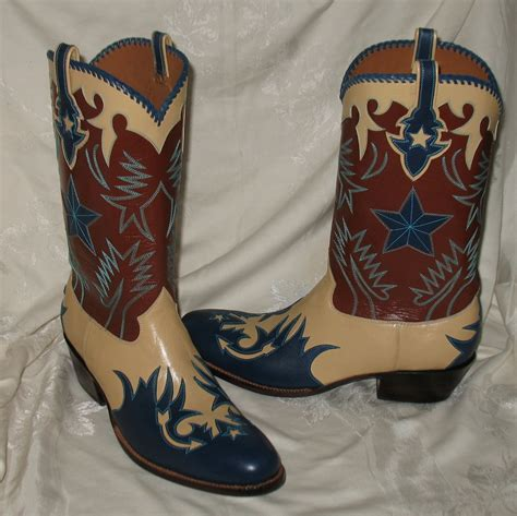 custom made cowboy boots for rocketbuster custom made leather cowboy boots 12w nib