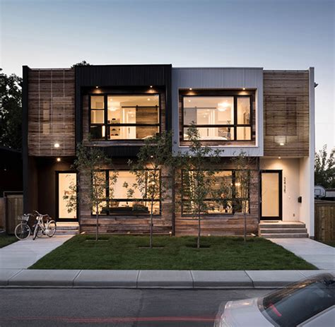 urban modern design modern urban infill in calgary showcasing reclaimed materials
