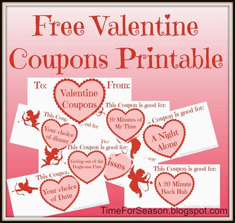 free printable valentine love coupons valentine coupons free printable