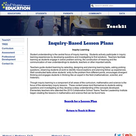 inquiry based learning lesson plan template inquiry based lesson plans pearltrees