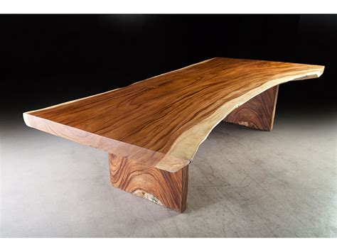 124 quot contemporary dining table monkey wood