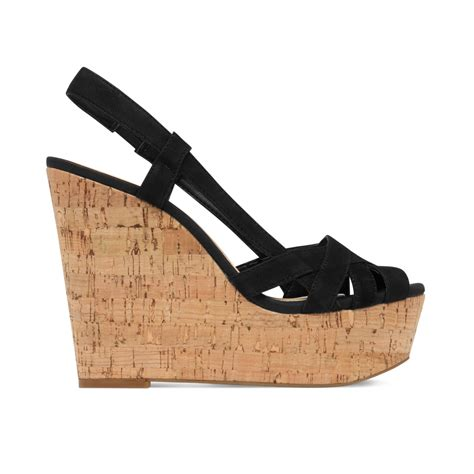 platform wedge sandals westt cork platform wedge sandals in black