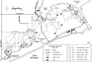 Muskegon State Park Campground Map by Muskegon State Park Trails
