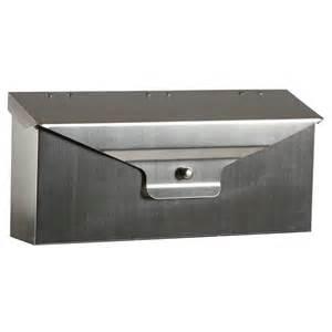 gibraltar mailboxes delegance steel horizontal wall mount
