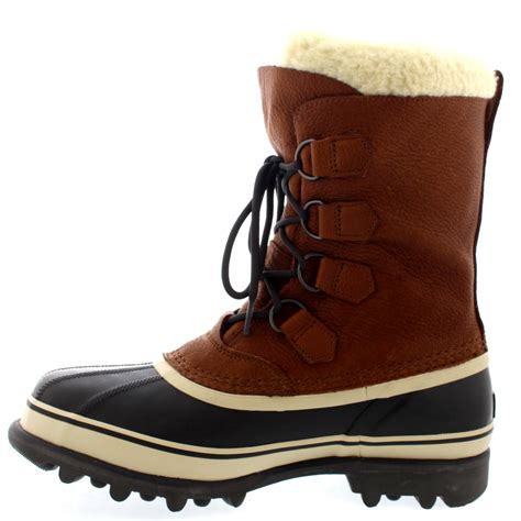 mens sorel caribou snow wi winter fur lined mid calf warm