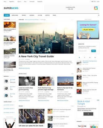 supernews theme junkie html css web templates