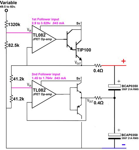 charging farad capacitor charging a 50 farad capacitor with voltage follower page 2