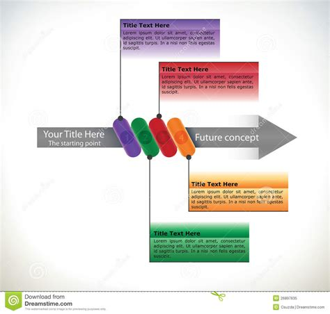 presentation flow chart with arrow stock vector image