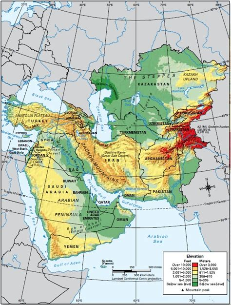 south central asia physical map central and south west asia physical map pictures to pin