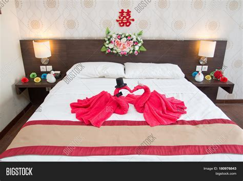 Two Swans Made Towels Image & Photo (Free Trial)   Bigstock