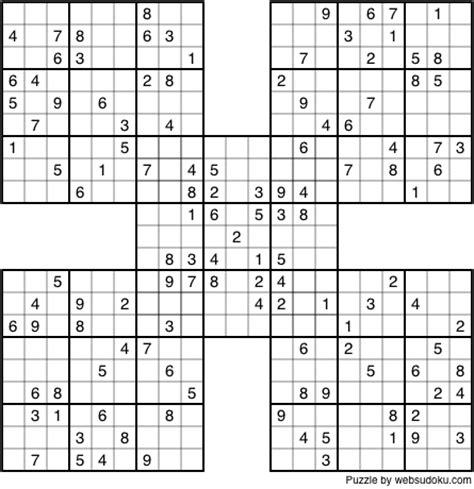 printable sudoku samurai samurai sudoku puzzles print quotes
