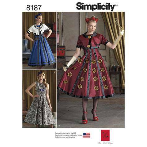 patterns sewing costumes simplicity 8187 misses costumes