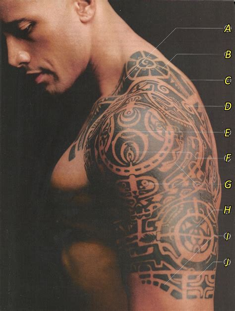 dwayne johnson tattoo dwayne johnson tattoos tattooed