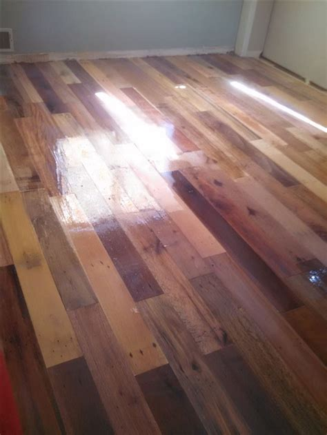 Wooden Kitchen Flooring Ideas by Diy Project Pallet Wood Floor Page 3 Home Design