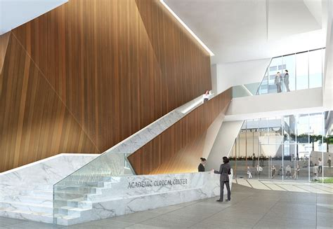Lobby Stairs Design American Of Beirut Academic And Clinical Center By Nbbj Beirut Lebanon Architect
