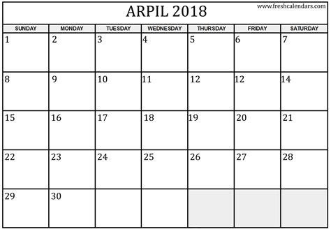 blank monthly calendar template  google docs printable  cost  calendarodownload