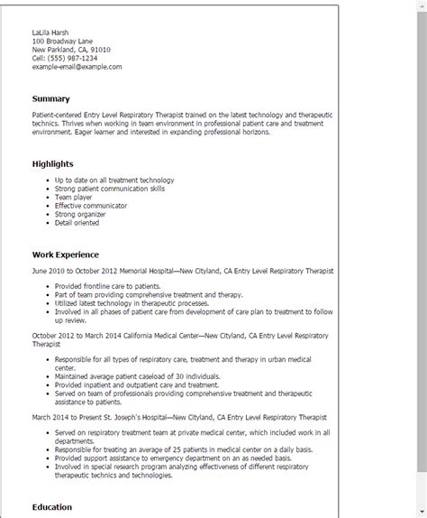 Respiratory Care Practitioner Cover Letter by Entry Level Respiratory Therapist Resume Template Best Design Tips Myperfectresume