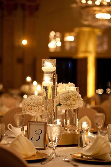 gold candle centerpieces 25 best ideas about candle centerpieces on