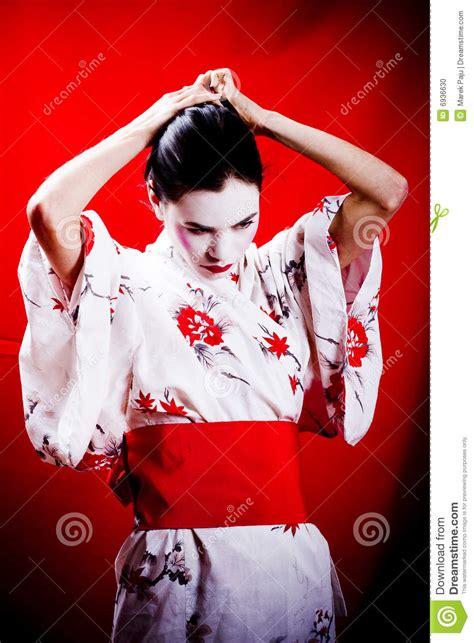 Kimono Maskara geisha in traditional kimono stock photo image 6936630