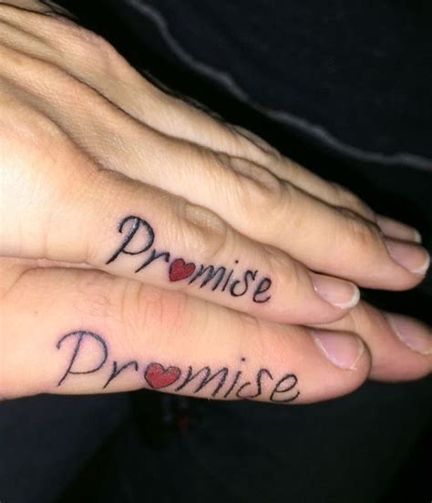promise tattoo 54 beautiful promise finger tattoos