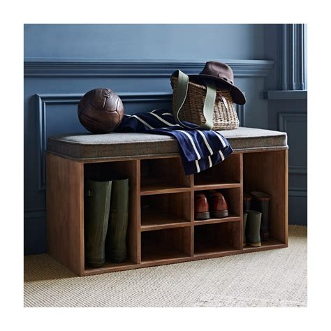 shoe storage with bench shoe storage bench tweed within home