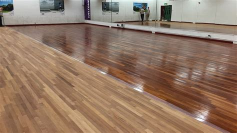 Wood Floor Restoration by Wood Floor Restoration Lynnsport Fitness Studio Renue
