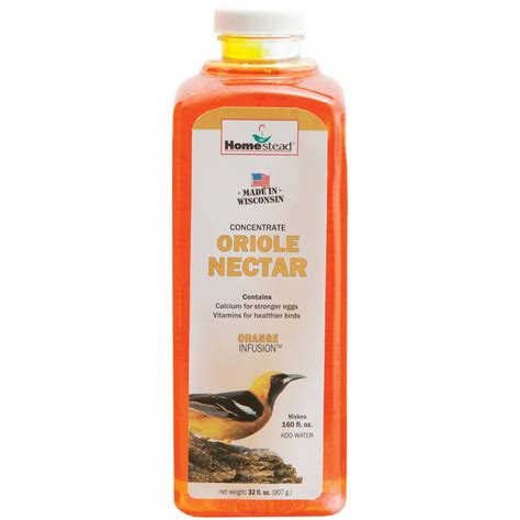 homestead 32 oz orange oriole nectar concentrate by