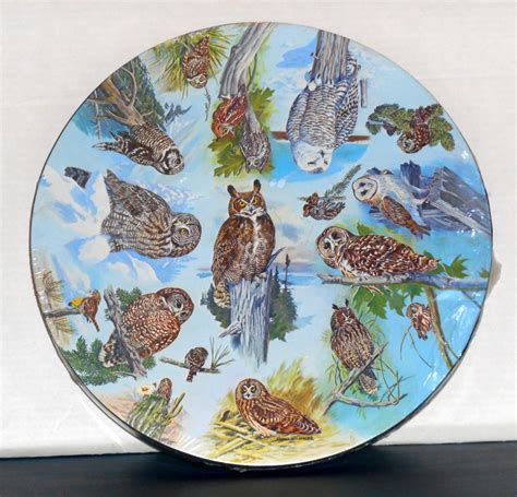Sold Out Vintage Owls 500 Piece Springbok Jigsaw Puzzle Circular Jigsaw Puzzles